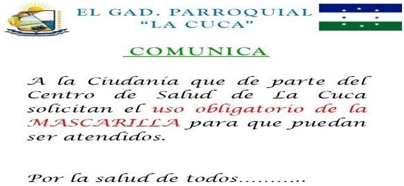 GAD PARROQUIAL Y CENTRO DE SALUD COMUNICA